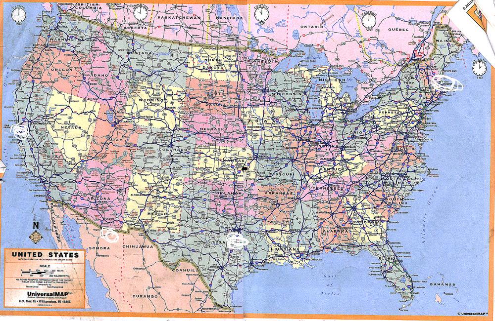 North America Map With Coordinates | ikwileenprentenboek